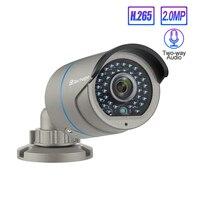 Techage H.265 1080P POE AI IP Security Camera 2 Way Audio Sound Record Onvif 2MP 48V Video Camera Waterproof CCTV Surveillance