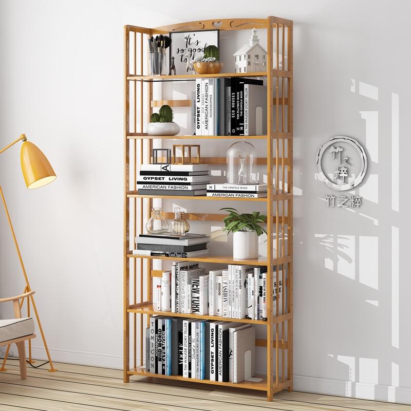 Solid Wood Bookshelf Storage Shelve For Children Book Rack Bookcase Living Room Shelves Kitchen Storage Books Magazine Organizer