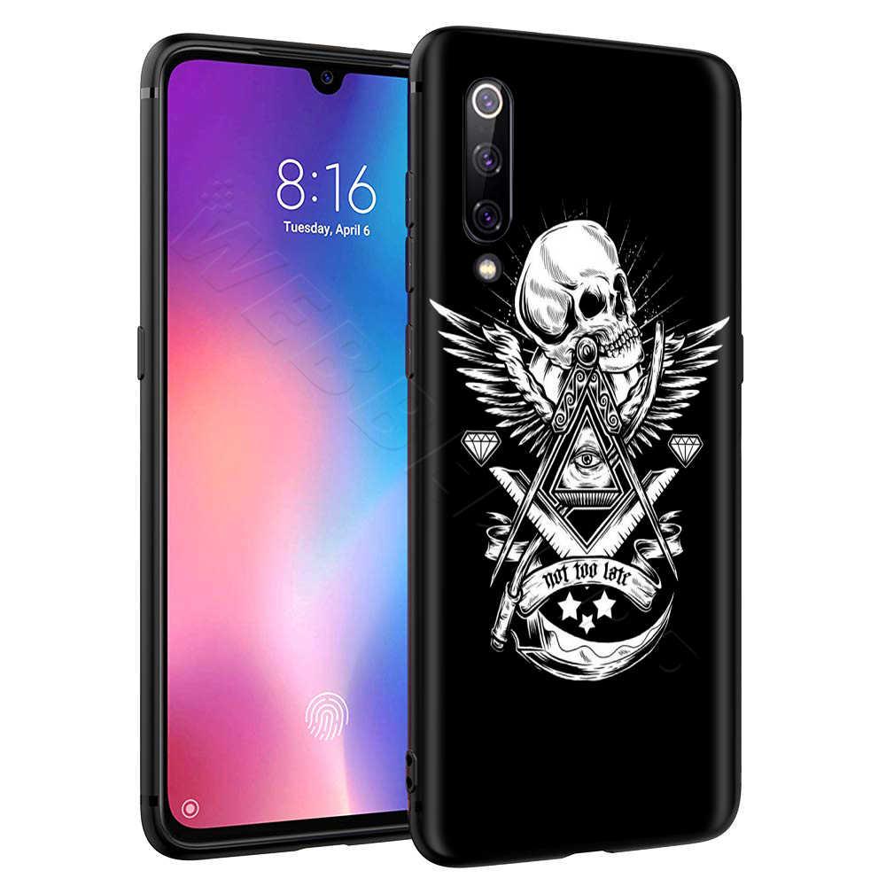 Satânico Assustador Crânio Caso para Xiaomi Nota Redmi MI 8 3 6 8 9 A1 A2 A3 8A 6X 9T CC9 Lite SE Pro Max F1 10