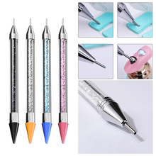 1 шт двухконцевая распиловочная ручка, восковой карандаш, акриловый инструмент для дизайна ногтей, маникюрный декор, ручка, восковой карандаш, Кристальные бусины
