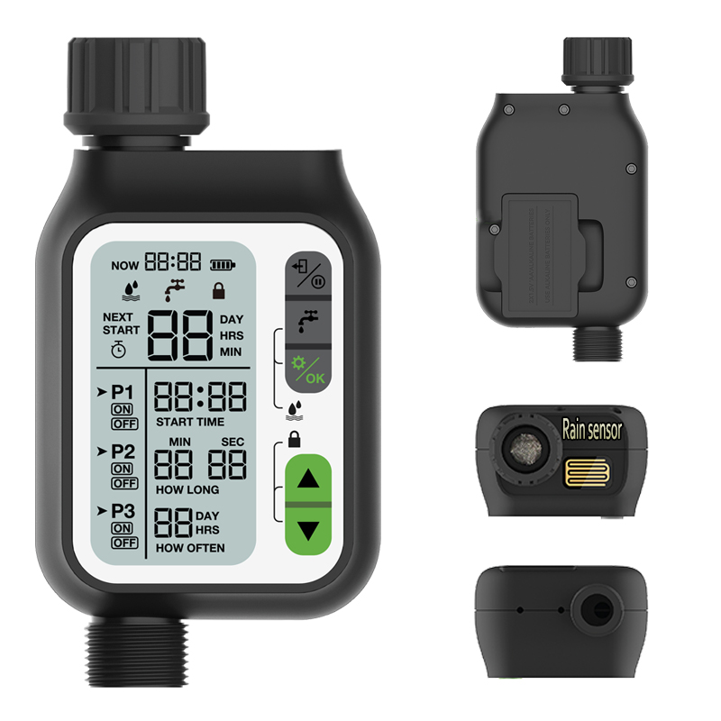 Watering Timer With Rain Sensor Irrigation Timer Waterproof Water Level Sensor Automatic Watering  System Irrigation Controller