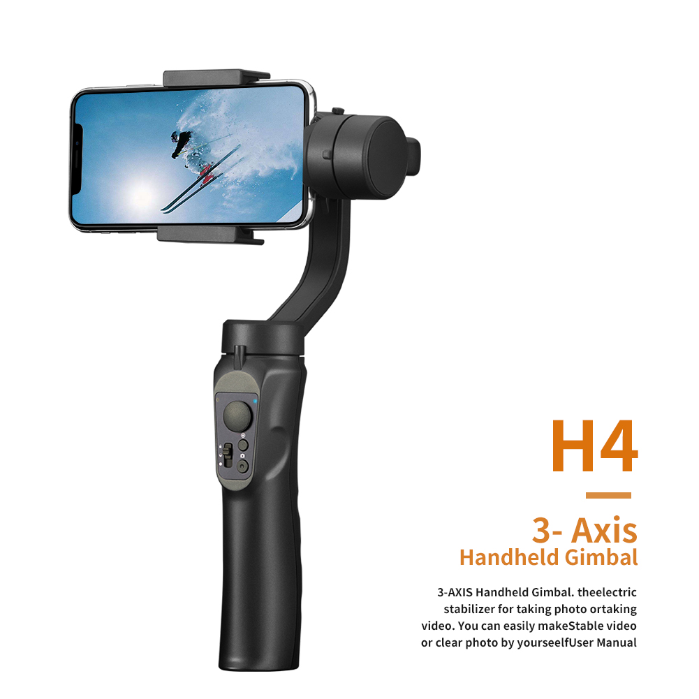 Image 2 - 3 Axis Flexible Handheld Gimbal Stabilizer for iPhone Xs Max Xr X 8 Plus 7 for Huawei for Samsung S9,8 Outdoor phone holder PTZ-in Handheld Gimbal from Consumer Electronics