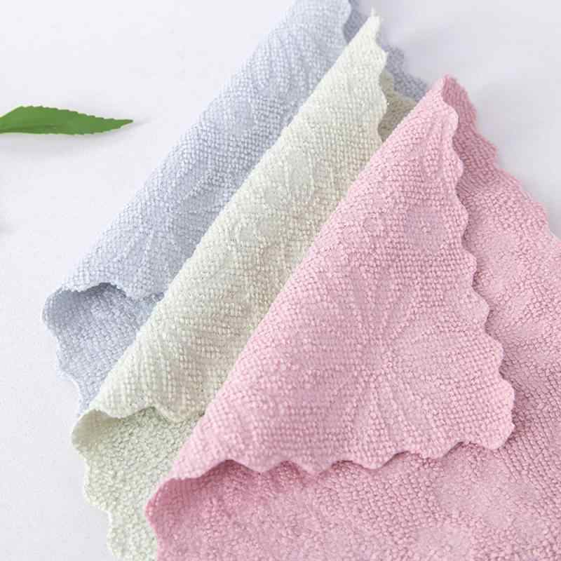 5pcs מטבח הדפסה סופג בד שאינו מקל שמן בד צלחת מגבת יד ניקוי מגבת ניקוי בגדים