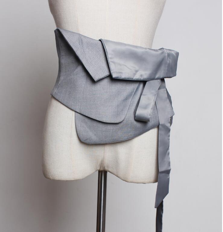 Women's Runway Fashion Fabric Cummerbunds Female Dress Corsets Waistband Belts Decoration Wide Belt R1840
