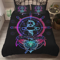 Duvset Cover Set Soft Material 3d Bed Linens Cheaper Bedding Clothes King Singel Size Butterfly Printed Couple Comforter Set