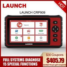 Launch X431 CRP909 OBD2 автомобильный диагностический инструмент Wifi полная система Автомобильный сканер ABS SAS DPF EPB сброс масла OBD 2 сканер launch