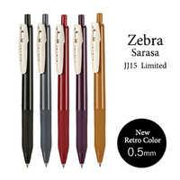 5pcs/set Zebra SARASA JJ15 Retro Color Gel Pen 0.5mm Limited Edition Vintage Neutral Pen bullet Journal pen Japanese stationery