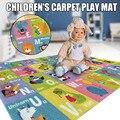Детский игровой коврик с буквенным номером  детский игровой коврик  нескользящий мягкий обучающий ковер  прочный OCT998