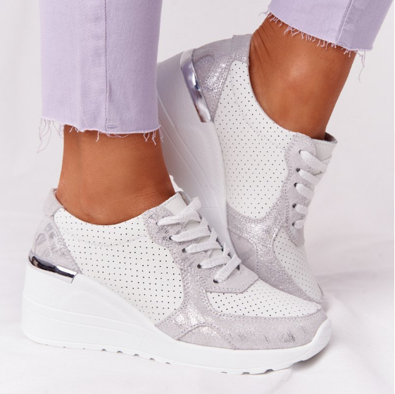 New Brand Design Women Casual Shoes Height Increasing Sport Wedge Shoes Air Cushion Comfortable Sneakers Zapatos De Mujer