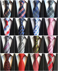 New Classic 100% Silk Men's Ties Neck Ties 8cm Plaid Striped Ties for Men Formal Business