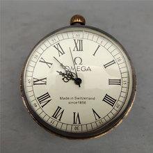 Retro Clock 5cm Brass Glass Ball Mechanical Ancient Roman Table Decoration Ornaments