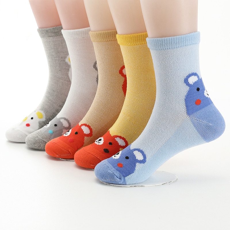 Baby Socks 1 Pairs Random Color Cartoon Kids Socks Baby Boy Girl Fashion Socks