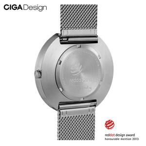Image 4 - CIGA עיצוב CIGA CIGA שעון קוורץ שעון פשוט קוורץ שעון פלדת חגורת נקודה אדומה עיצוב הפרס שעון גברים של אופנה שעונים
