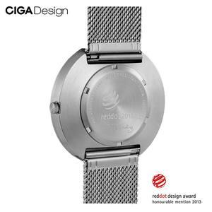 Image 4 - CIGA conception CIGA montre CIGA montre à Quartz Simple montre à Quartz ceinture en acier point rouge conception prix montre montres de mode pour hommes