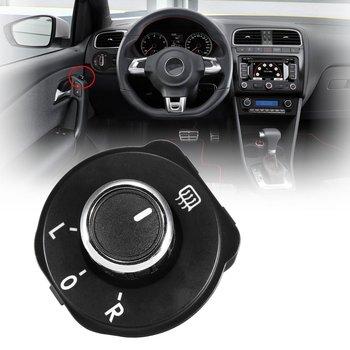 Czarna naklejka na samochodowe lusterko wsteczne regulacja pokrętła przełącznik przyciskowy 6RD959565B dla VW dla volkswagena dla Polo 6R 2011 2012 2013 2014 2015 2016 tanie i dobre opinie CN (pochodzenie) 2011-2016 Przełączniki durable For VW for Polo Black