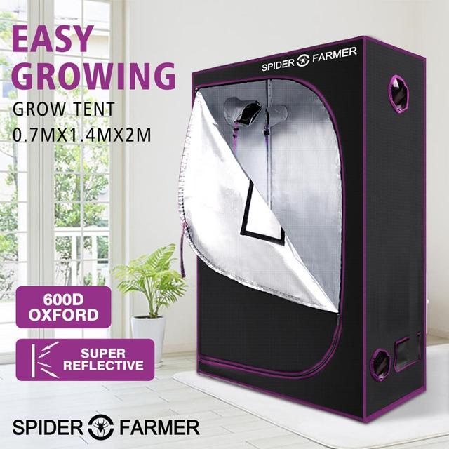 2.3 x 4.6 70x140x200 cm לגדול אוהל עכביש חקלאי מקורה הידרופוני בית תיבת צמח גן עבור רעיוני אלומיניום אוקספורד בד