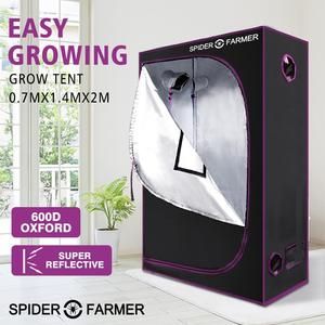Image 1 - 2.3x4.6 70x140x200 cm Grow Tent Spider Farmer Indoor Hydroponic Home Box Plant Garden For Reflective Aluminum Oxford Cloth