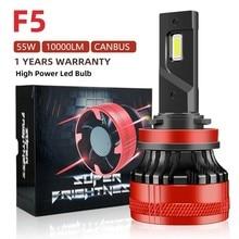 F5 55w 10000lm faróis do carro h4 h7 h1 h11 led 6000k auto luz de nevoeiro 12v lâmpada led 9005 9006 turbo para carro moto lâmpada