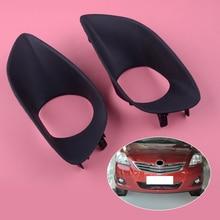 цена на DWCX 1 Pair Black Car Front Fog Light Lamp Cover Trim Plastic Fit for Toyota Yaris Belta Vios Limo 2007 2008 2009 2010 2011 2012