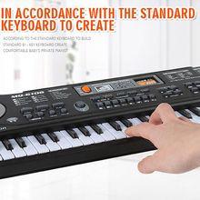 61 Key Music Electronic Keyboard Digital Piano Organ with Microphone