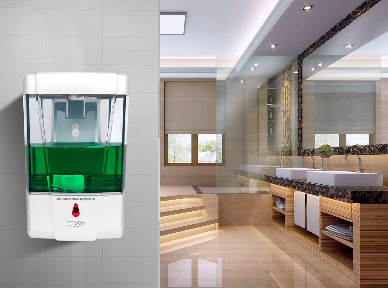 700ml Capacity Automatic Soap Dispenser Touchless Sensor Hand Sanitizer Detergent Dispenser Wall Mounted For Bathroom Kitchen 700ml Capacity Automatic Soap Dispenser Touchless Sensor Hand Sanitizer Detergent Dispenser Wall Mounted For Bathroom Kitchen