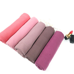 Image 4 - J1  10pcs 35color High quality jersey scarf cotton plain elasticity shawls maxi hijab long muslim head wrap long scarves/scarf