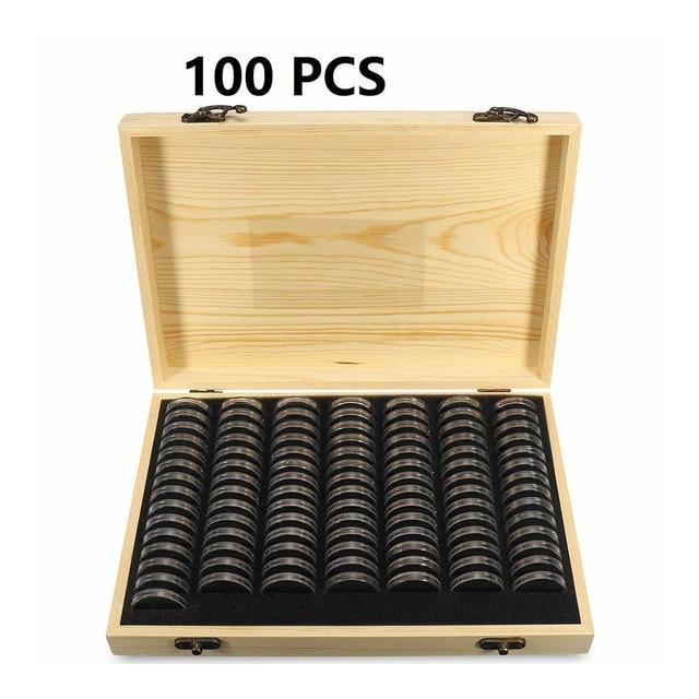 Étui de Collection antirouille universel maison en bois affichage pièce boîte de rangement commémorative conteneur Capsules antioxydant Simple