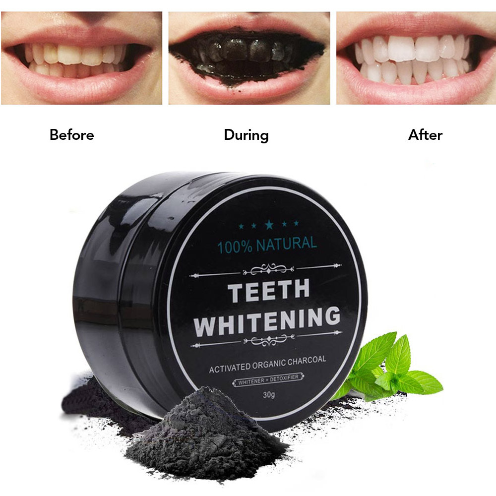 Natural Charcoal Teeth Whitening Powder Smoke Coffee Tea Stain Remover Oral Hygiene Dental Care Bamboo Activated Charcoal Powder