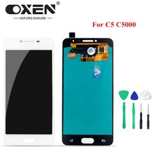 OXEN OLED Display for SAMSUNG Galaxy C5 C5000 LCD Touch Screen Digitizer Assembly Replacement Phone Panel 100% Tested + Tools(China)