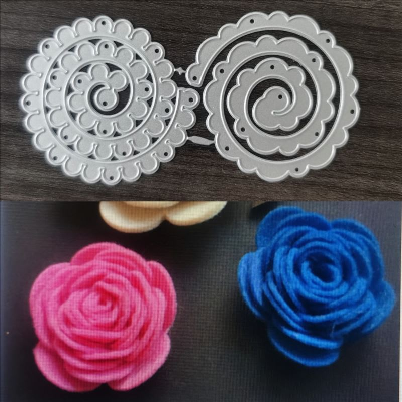 Spiral Flower Metal Cutting Dies for DIY Scrapbooking Album Paper Cards Decorative Crafts Embossing Die Cuts
