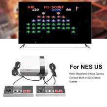 Video Game Console for NES Retro Handheld 4 Keys Plug & Play Games Console Built-in 620 Classic Video TV Games Dual Player Mode