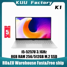 KUU K1 15.6Inch For Intel i5-5257U 3.10GHz Gaming laptop 512GB SSD IPS Screen Keyboard Backlight Fingerprint Unlock Notebook