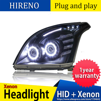 Car Styling Head Lamp case for Toyota Prado 2003-2009 LED Headlights DRL Daytime Running Light Bi-Xenon HID Accessories