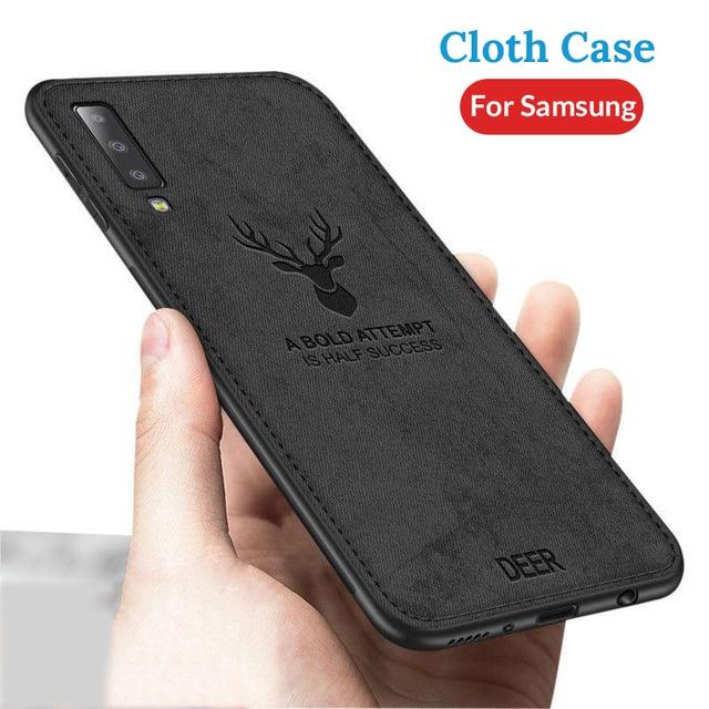 Cloth Fabric Deer Case For Samsung Galaxy A50 A40 A70 A20 A10 A30 Back Case For Samsung S8 S9 S10 Plus S10e S10 A7 2018 Capa 4