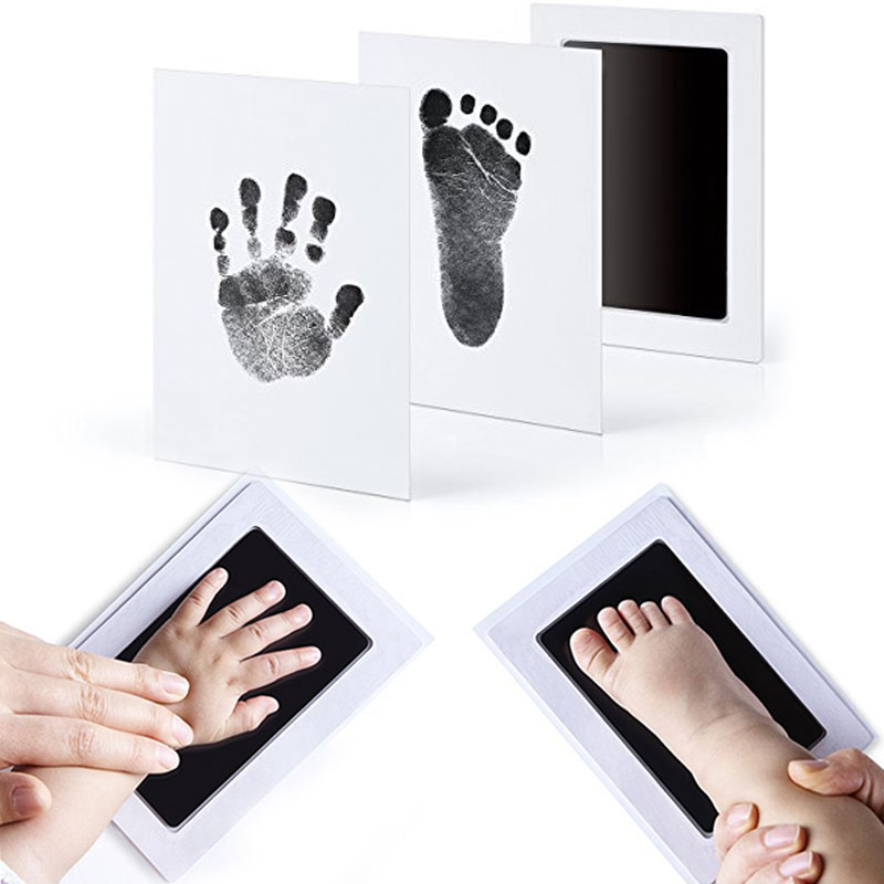 NL Drop Ship Handprint Footprint Inkt Large Non-Toxic Newborn Imprint Hand Inkpad Watermark Infant Souvenirs Clay Toys Ink Pad