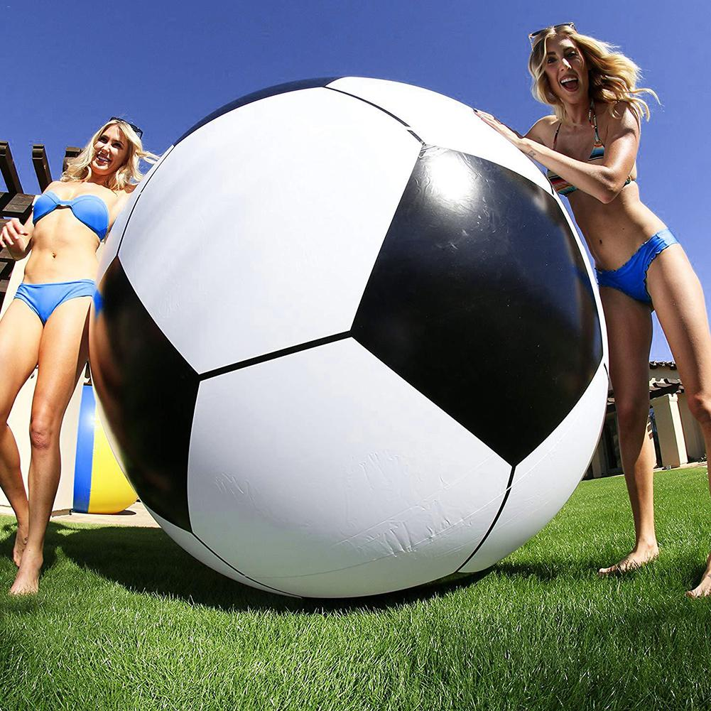 100cm/150cm Giant Inflatable Water Soccerball Extra Large  Thickened PVC Beach Ball Pool Toy Jumbo Beach Ball Toy For Kids