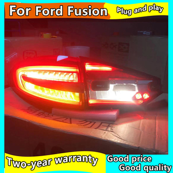 Car Styling Tail Light Case For Ford Fusion Taillights 2017-2019 Mondeo LED Tail Lamp Rear Lamp DRL+Brake+Park+Signal light