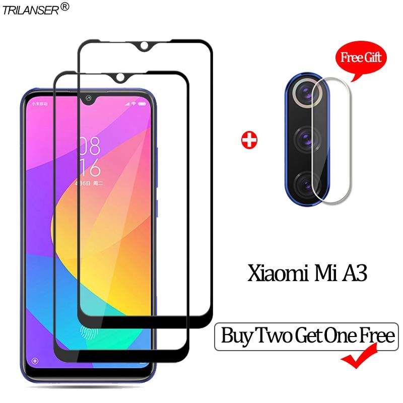 2 PCS Glass For Xiaomi-Mi-A3 Tempered Glass Camera Protection Xiaomi Mi A3 Screen Protector mia3 xiomi mia 3 mi a 3 Glass Flim(China)