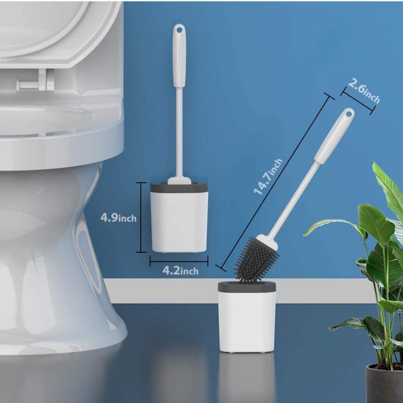 1pc Silicone TPR Toilet Brush And Holder Wall-Mounted Cleaning Brush Tools For Toilet Household WC Bathroom Accessories Sets