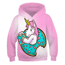 Girls Boys Hoodie Harajuku Style 3D Printing Hot Sale Fantasy Unicorn Series High Quality Streetwear Top New 2021 Polyester