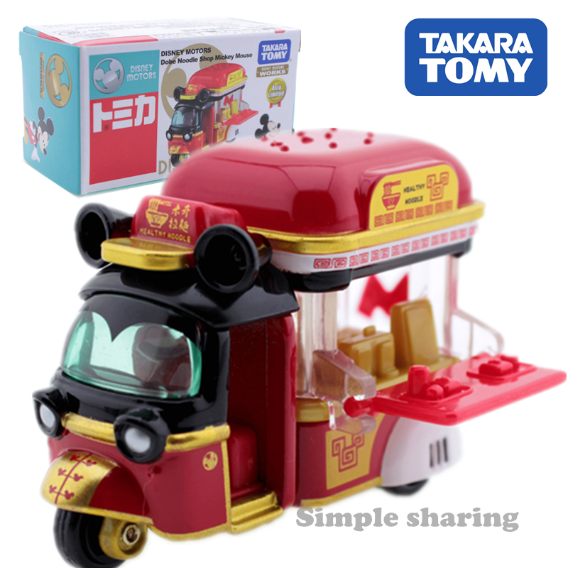 Takara Tomy Tomica Disney Motors Mickey Mouse Anime Figure Tricycle Mould Hot Pop Baby Toys Diecast Kids Car Toy