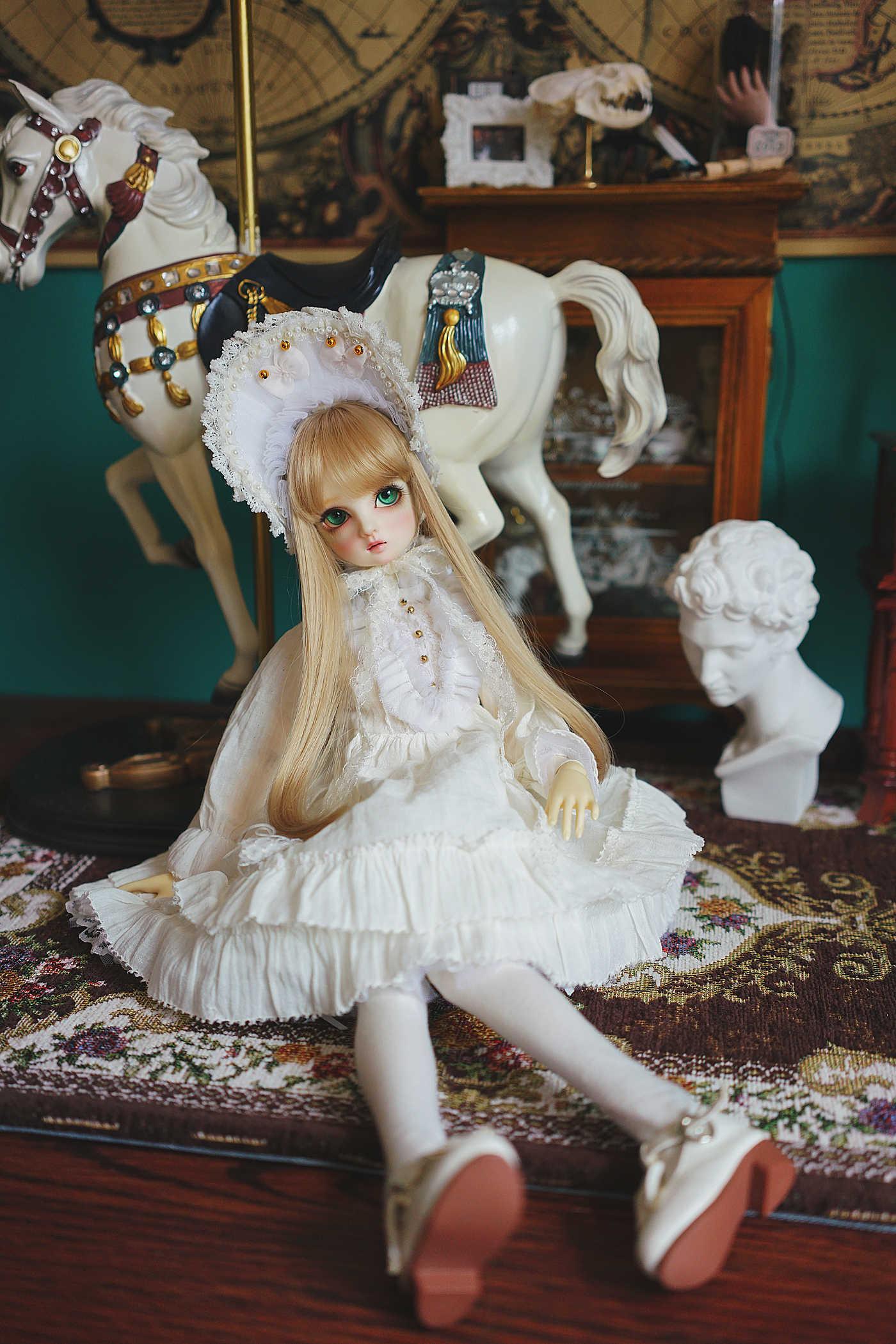 Lolita Alice Dress Doll Clothes Costume for OB11 Molly 1//4 1//8 1//6 BJD Blythe Sa