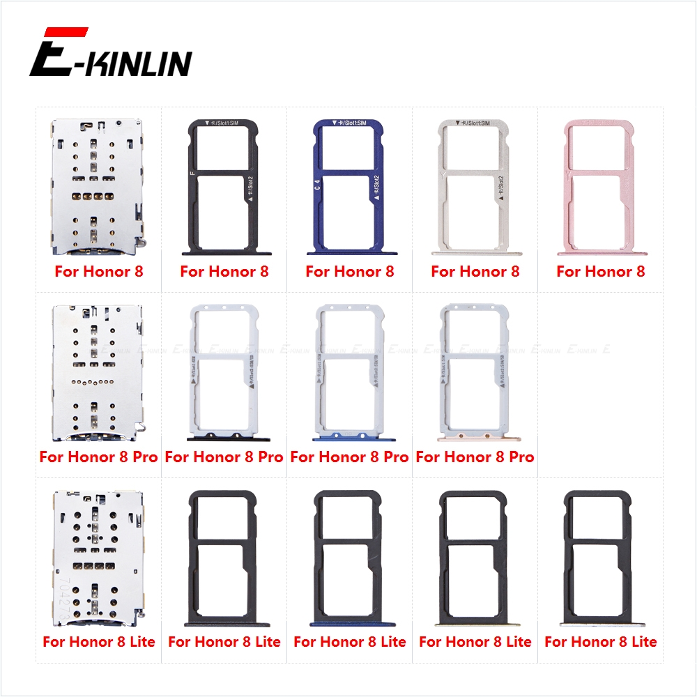Sim Card Socket Slot Tray For HuaWei Honor 8 Pro Lite Reader Holder Connector Micro SD Adapter Container