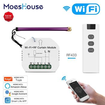 WiFi RF Smart Curtain Blinds Module Switch Roller Shutter Motor Tuya Wireless Remote Control Work With Alexa Google Home