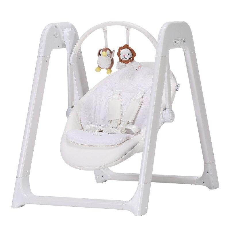 H34d25fb8ac3e4b86a5a78cc7d24a0b62q Electric Baby swing baby rocking chair multi-function Aviation aluminum baby cradle bed recliner comfort cradle berceau quality