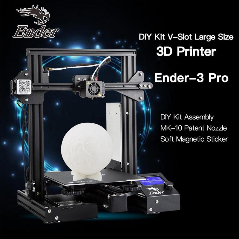 CREALITY 3D impresora Ender 3Pro DIY Kit v slot gran tamaño regalo boquillas y bloque calefactor funda de silicona + PLA - 2