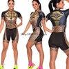 Roupa de ciclismo feminina manga curta, equipamento de equipe corporal sexy de tri skinsuit, roupas de ciclismo personalizadas, triathlon, 2020 23