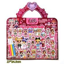 Оригинальные куклы lol surprise, 3D Мультяшные оригинальные куклы lol, аниме стереоскопические наклейки, экшн-игрушки, наборы для девочек, подарки