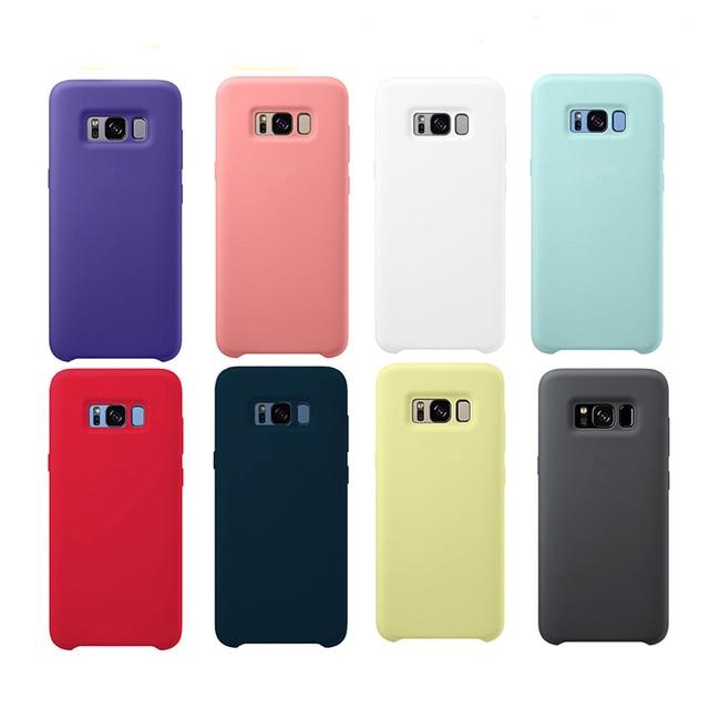 Funda de silicona líquida Original, funda suave y sedosa para Samsung Galaxy S10 Lite/S10E S8 S9 NOTE 8 9 10 con caja