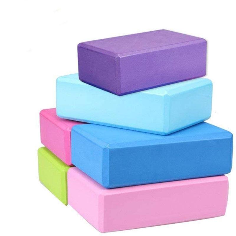 EVA Yoga Block Foam Brick Training Exercise Fitness Sports Tool Non-slip Yoga Pillow Cubes For Yoga Stretching Body Mold Healthy
